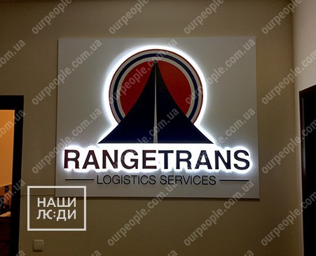 Объемный настенный логотип с подсветкой