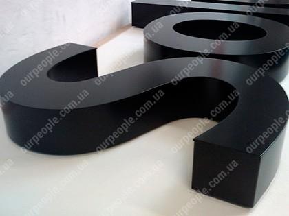 Объемные буквы без подсветки