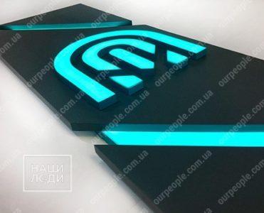 3D логотип в офис и на ресепшн