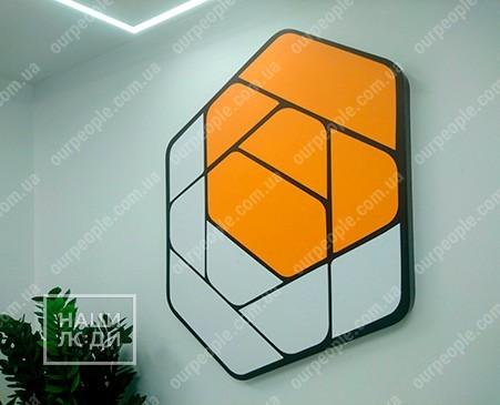 Фигурный логотип на стену