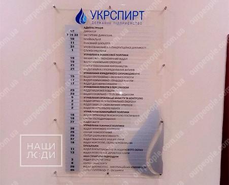 Інформаційний стенд з оргскла
