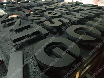 Виды объемных букв