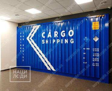 Оклейка контейнеров, брендирование плёнкой