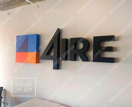 Великі об`ємні літери на стіну